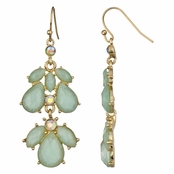Kilala's Chandelier Earrings - Mint Green