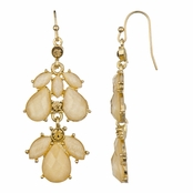 Kilala's Chandelier Earrings - Peach Champagne