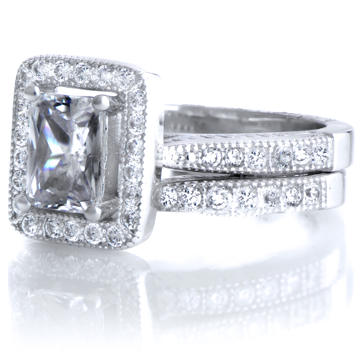 Fresh Emerald Cut Bridal Sets