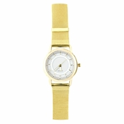 Kim's Goldtone Mesh Band Fashion Watch