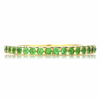 Kimber's Goldtone Green CZ Eternity Band