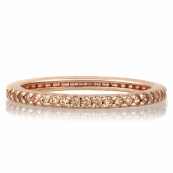 Kimber's Rose Goldtone and Peach CZ Eternity Ring