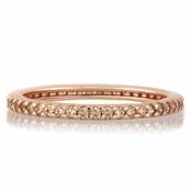 Kimber's Rose Gold Tone and Peach CZ Eternity Ring
