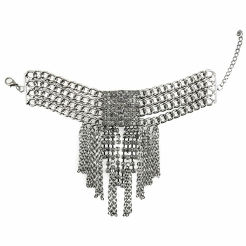 Kira's Gunmetal Multi-Chain Fringe Fashion Bracelet