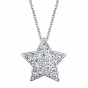 Kleins' CZ Star Necklace