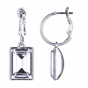 Kolina's Emerald Cut Swarovski Crystal Dangle Earrings
