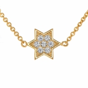 Kourtney's Petite Gold Vermeil Charm Necklace - Star of David