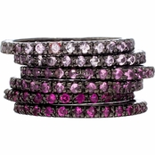 Kristin's Set of 6 Pink Stackable Rings