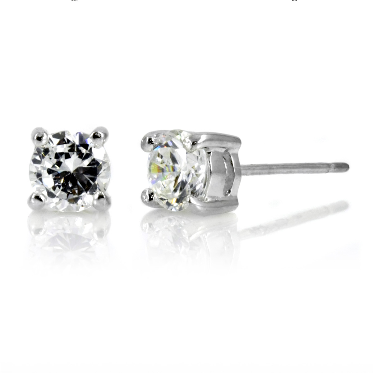 Magnetic Earrings With Real Diamonds Ikos 4 Tcw Cz Stud
