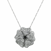 Lani's Pave Hibuscus Flower Necklace