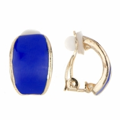 Larissa's Blue Half Hoop Clip On Earrings