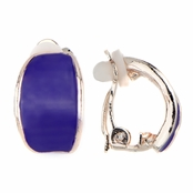 Larissa's Purple Half Hoop Clip On Earrings