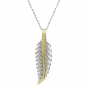 Larkin Two Tone Leaf Necklace