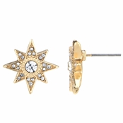 Leah's Gold Tone Starburst Stud Earrings