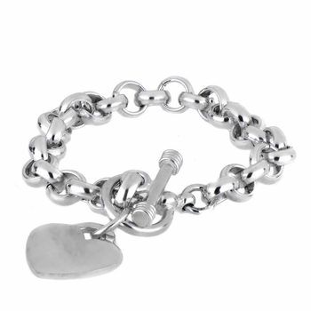 Legally Blonde Heart Charm Toggle Bracelet - Medium Gauge