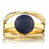 Leigh's Sapphire Corundum Three Band Gold Right Hand Ring