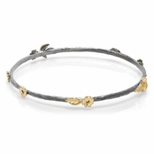 Leilani's Two Tone Leaf & Floral Bangle Bracelet