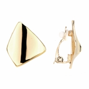 Lena's Goldtone Modern Clip On Earrings