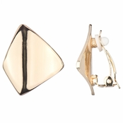 Lena's Gold Modern Clip On Earrings