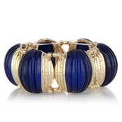 Lexi's Blue & Goldtone Stretchable Bracelet