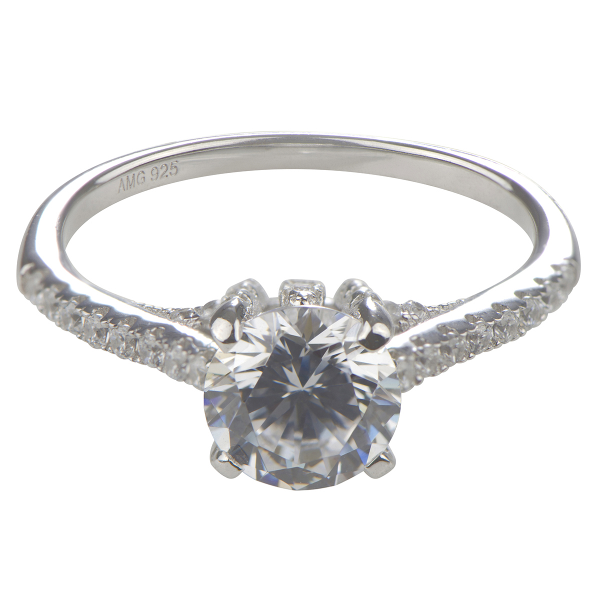 lexis 39 round cut cubic zirconia engagement ring
