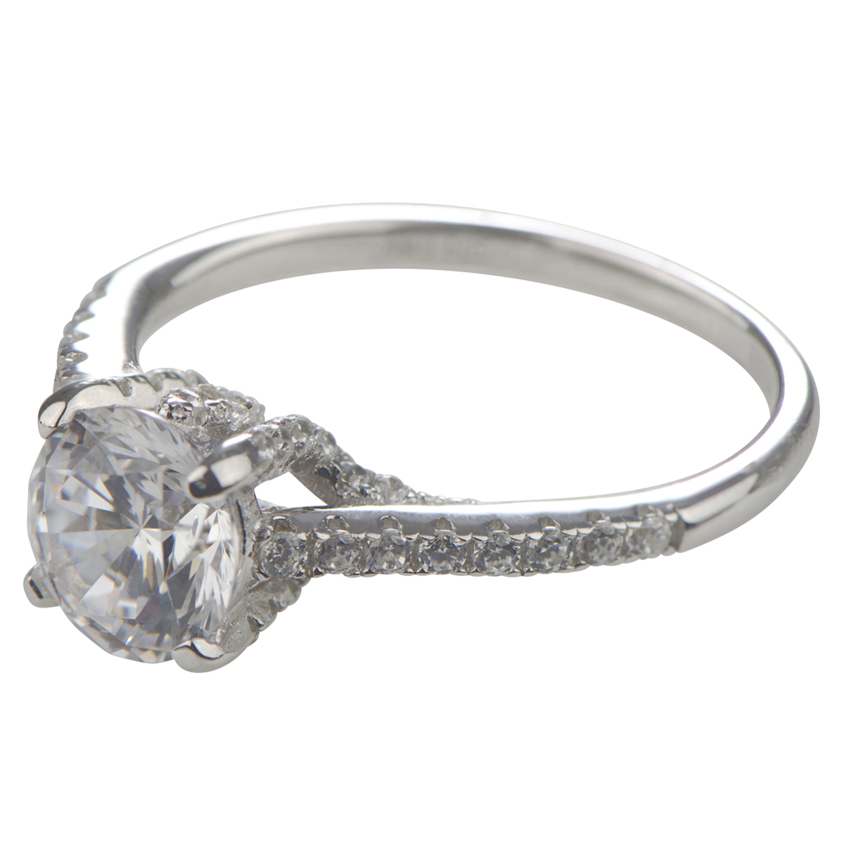 lexis cut cubic zirconia engagement ring