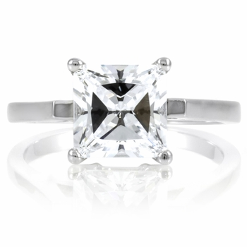 Lezlie's 2 CT Princess Cut CZ Engagement Ring