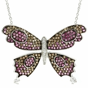 "Li's Fancy Butterfly Necklace (18"" Chain)"