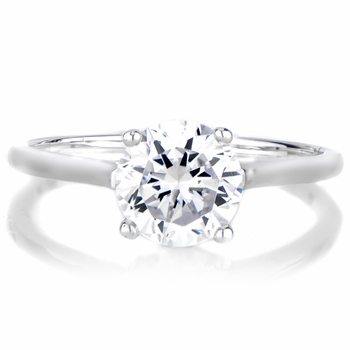 Lindsay's 2 CT Brilliant Cut CZ Engagement Ring