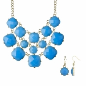 Linnea's Statement Fashion Necklace - Neon Blue