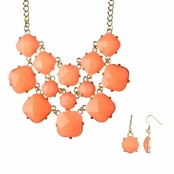 Linnea's Statement Fashion Necklace - Neon Orange