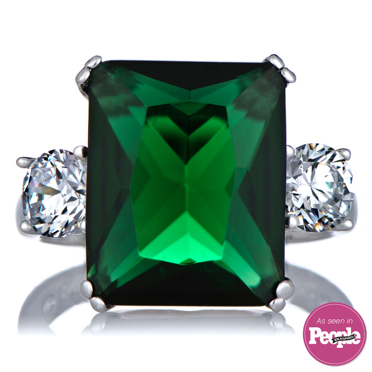 lisbeth s green cz cocktail ring