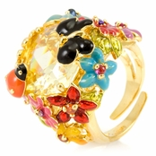 Lissy's Flower Cocktail Ring - Canary