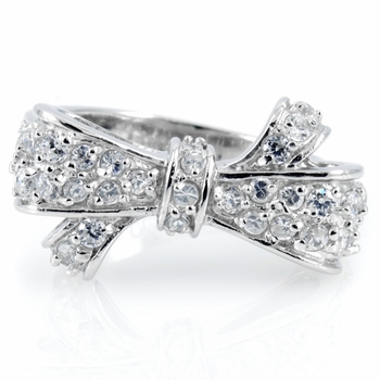Liu's Ribbon Bow Pave CZ Ring