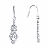 Liza's Vintage CZ Bezel Dangle Earring