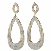 Lola's Tear Drop CZ Hoop Earrings