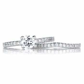Lucienne's CZ Wedding Ring Set
