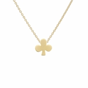 Lucky Vegas Charm Necklace - Club - Goldtone Matte