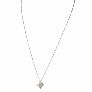 Lucky Vegas Charm Necklace - Diamond - CZ Pave: Final Sale
