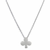 Lucky Vegas Charm Necklace - Silvertone Matte - Club