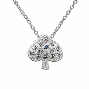 Lucky Vegas Charm Necklace - Spade - CZ Pave: Final Sale