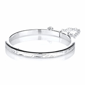 Lucy's Etched Sterling Silver Baby Bangle Bracelet - 51 mm