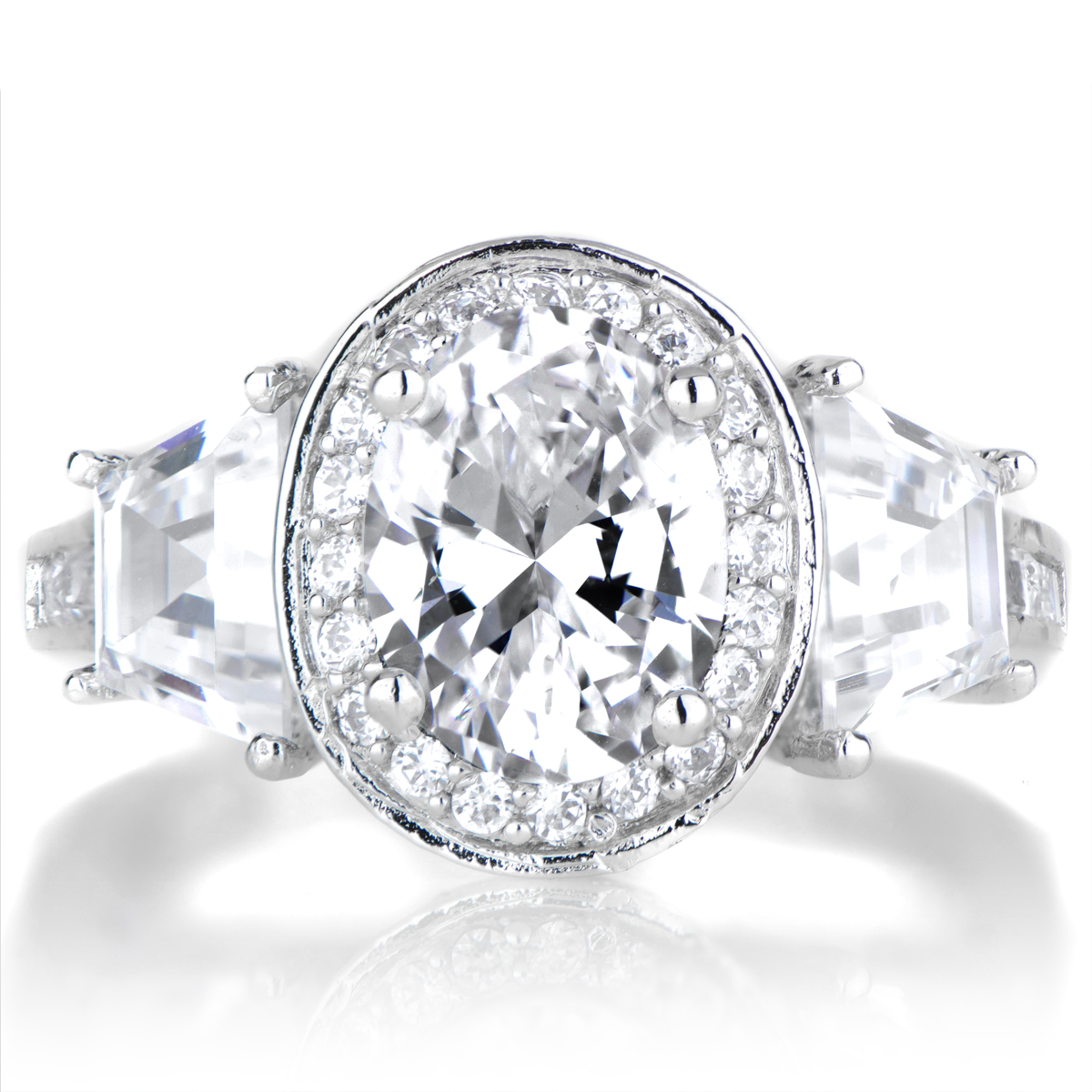Lula s Oval Cut 3 Stone Engagement Ring