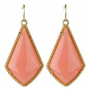 Mabel's Boho Coral Dangle Earrings