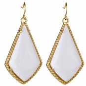 Mabel's Boho White Dangle Earrings