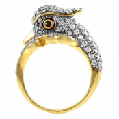 Macall's Goldtone Parrot Cocktail Ring