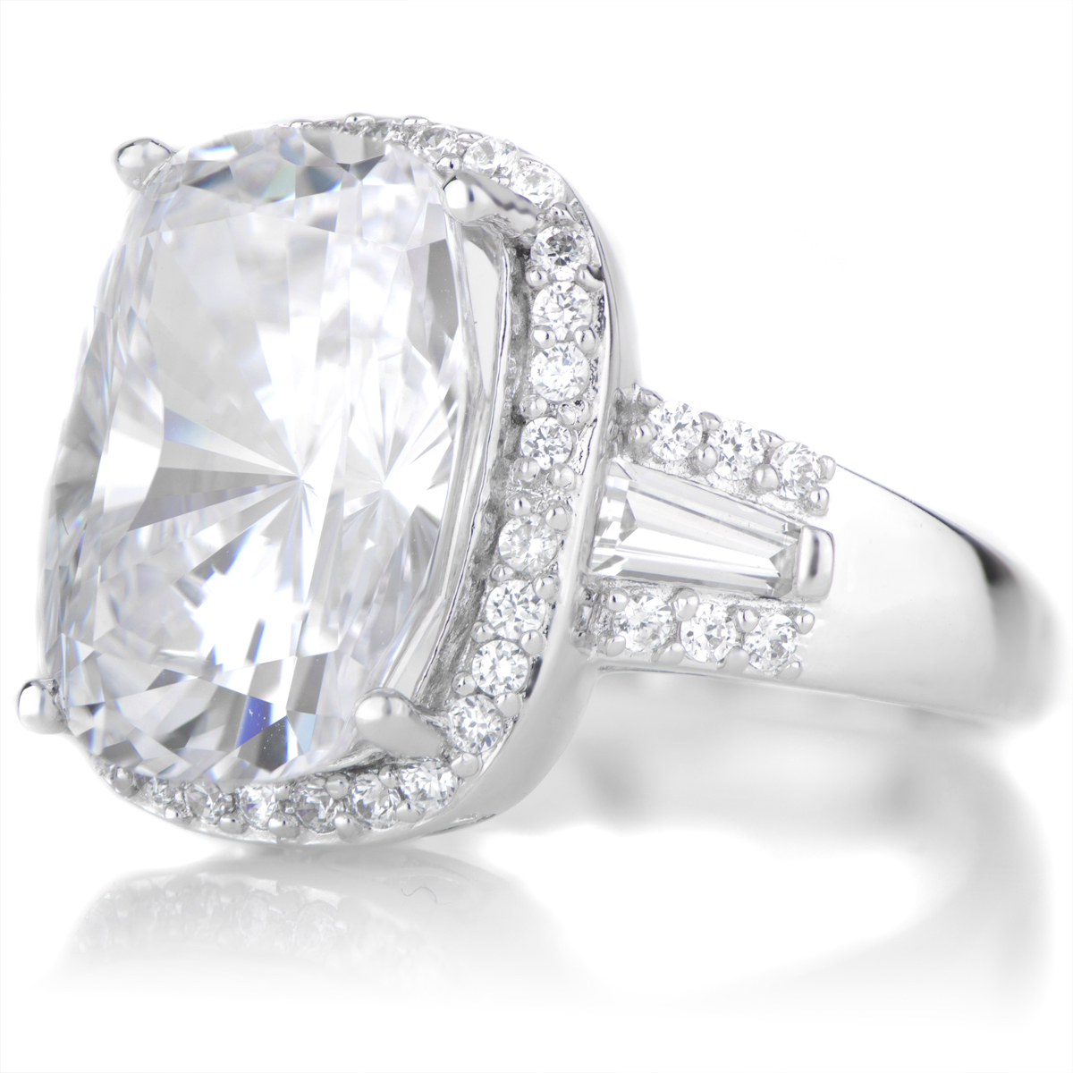 Maita s 5 5 ct Cushion Cut CZ Engagement Ring