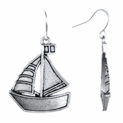 Maleen's Dangle Sail Boat Earrings
