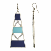 Mana's Navy and Turquoise Modern Dangle Earrings