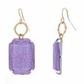 Mandee's Square Shimmer Dangle Earrings - Lilac